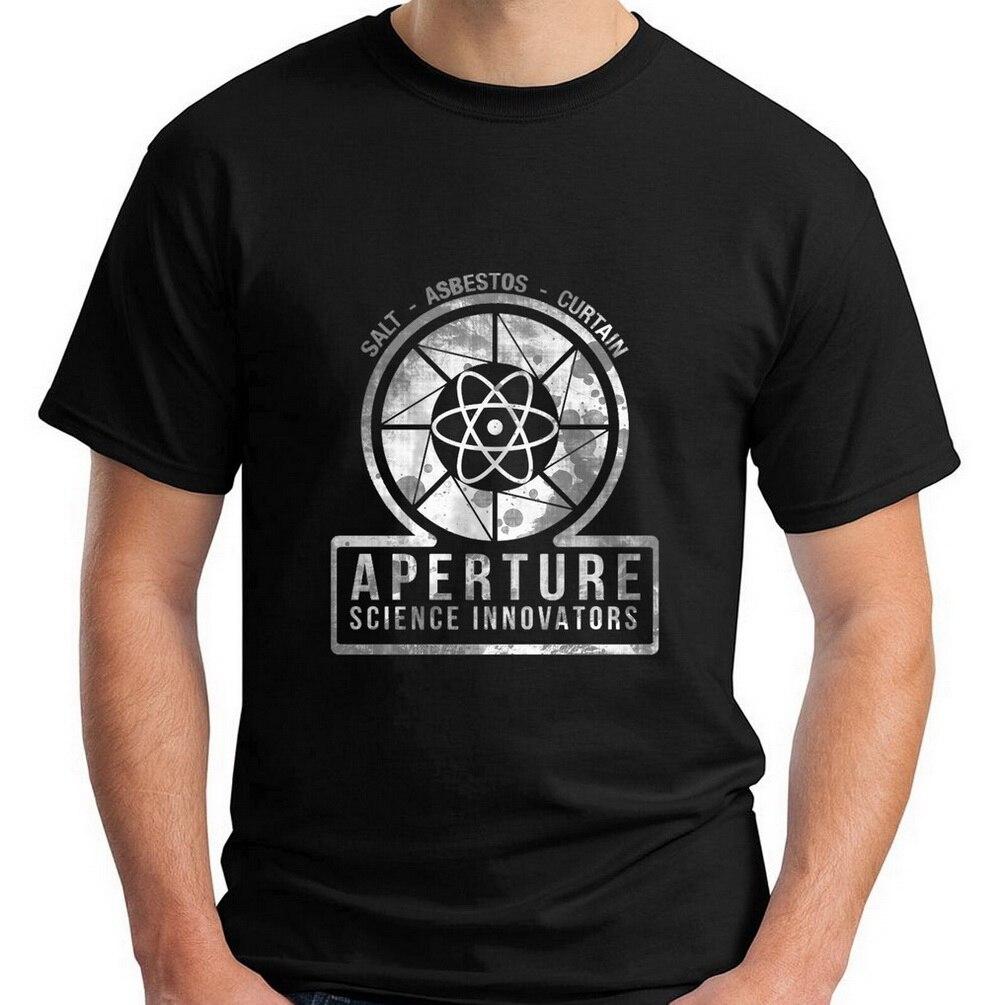 VINTAGE APERTURE SCIENCE innovadores laboratorios juego Portal negro camiseta S-5XL Tops Unisex camiseta
