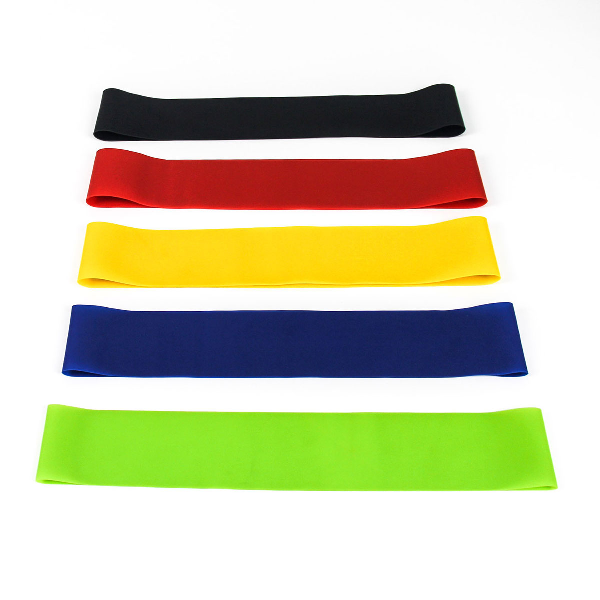 Gym Fitness Resistance Bands for Yoga Stretch Pull Up Assist Bands Latex Elastic Stretch Band Mixed Color 1 Set ( 5 PCs/Set)