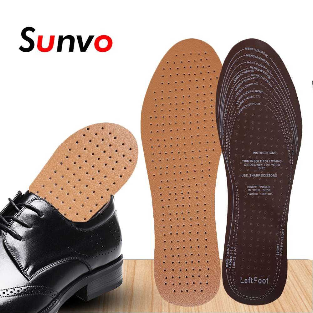 10 pair deodorant insoles for shoes women men soft breathable sport shoe sole inserts health care foot massager comfort shoe pad Sunvo Ultra Thin Breathable Deodorant Leather Insoles for Shoes Men Women Elevator Shoes Inner Sole Inserts Foot Care Shoe Pads
