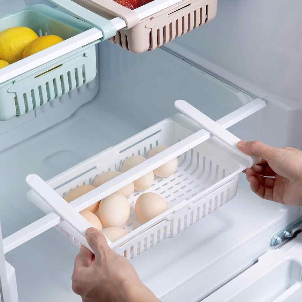 Estante De Almacenamiento Para Refrigerador Extensible Soporte Colgante Organizador Para Nevera Cesta De Almacenamiento De Alimentos Caja Organizadora De Cocina Accesorios Bastidores Y Soportes Aliexpress