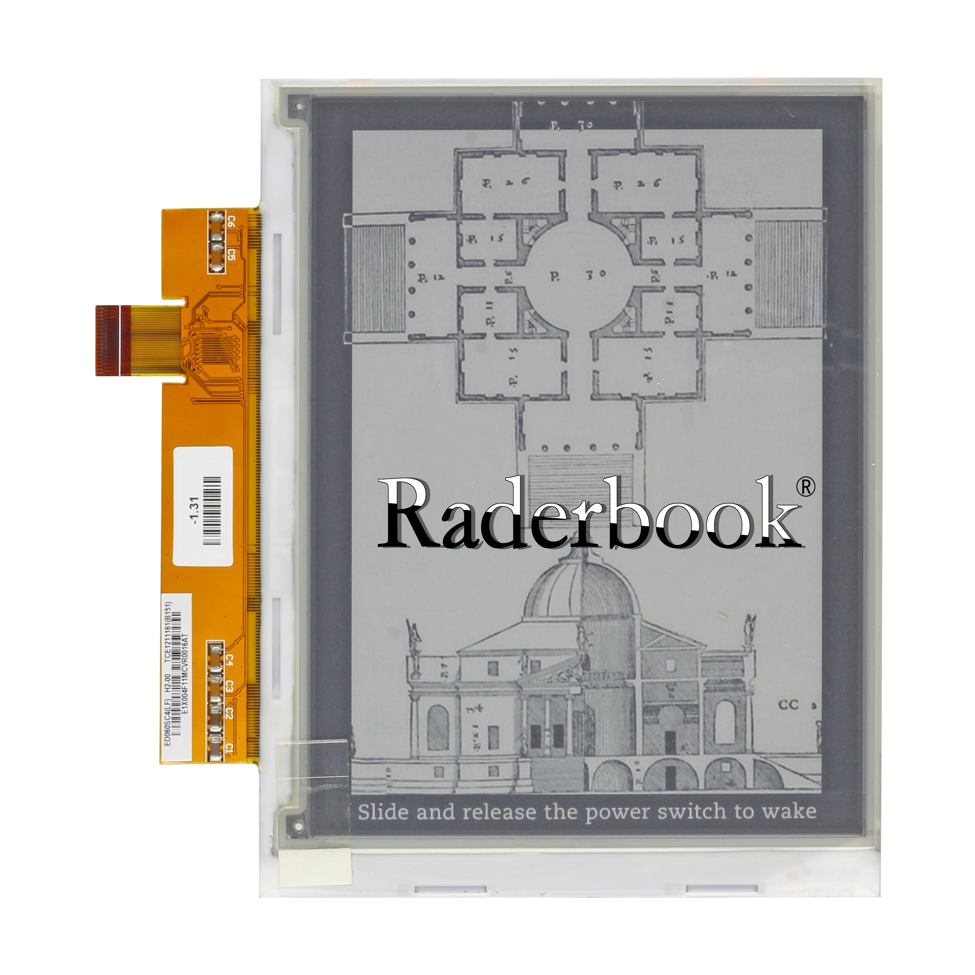 شاشة H2 6 بوصة ED060SC4 (LF) ، لجهاز PocketBook 100% plus Sony PRS500 301 ، KINDLE 2 ، قصة قزحي الألوان ، أصلي 600