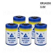 6pack Marke Neue LISUN ER14250 1/2AA 3,6 V 1200mAh Lithium-Batterie PLC Batterien Kostenloser Versand