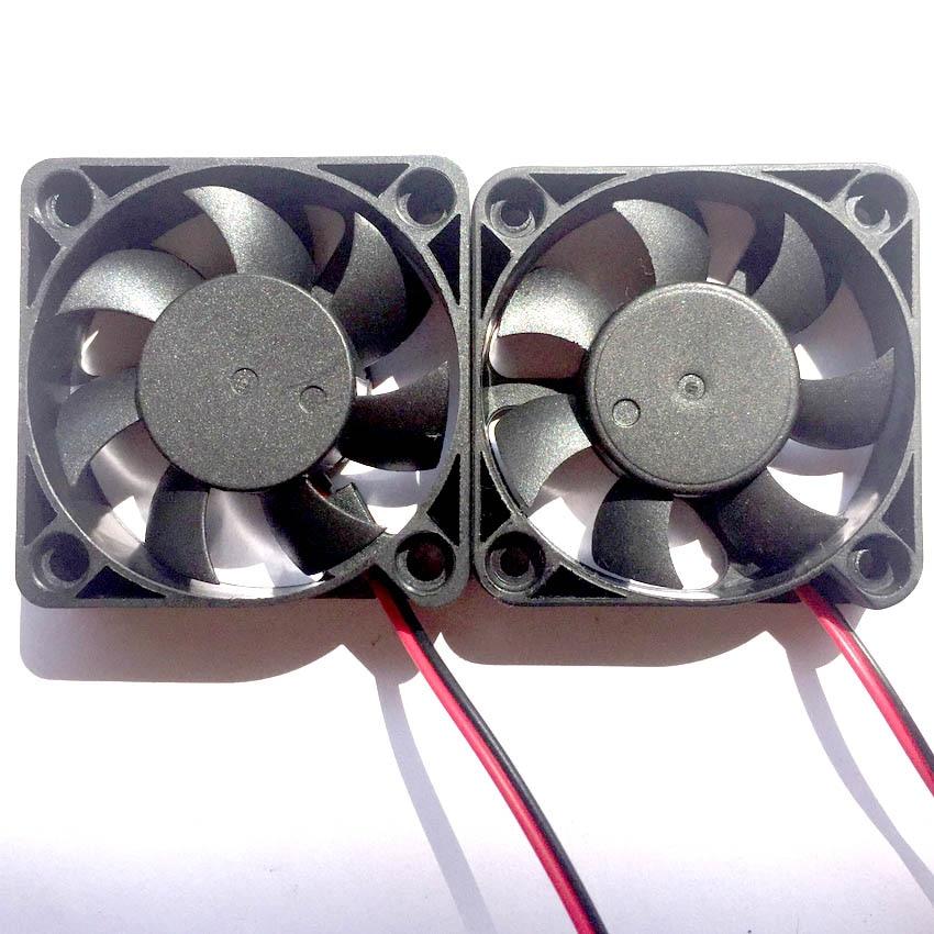 2 шт. 5 в 12 В 24 В 5010 5015 вентилятор с шарикоподшипником 50x50x10 мм вентилятор 5010 охлаждающий вентилятор 5 см кулер для ПК ноутбука вентиляторы с рад...