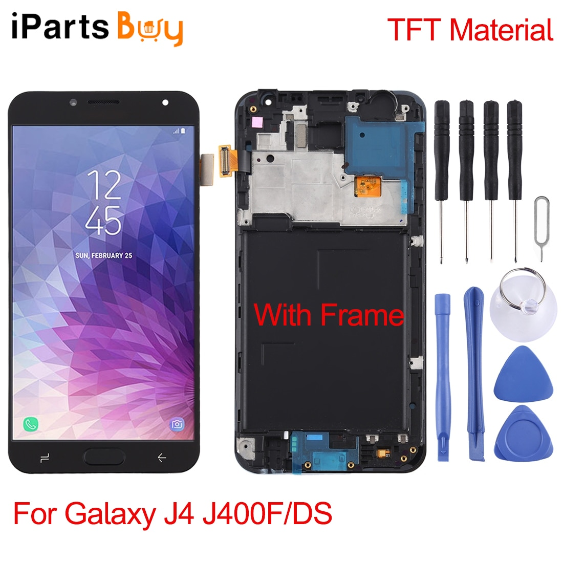 IPartsBuy for Galaxy J4 J400F/DS / J5 (2015) / J500F / J7 (2015) / J700F / J3 (2016) / J320F / J7 (2016) / J710F شاشة LCD