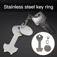 n58f key ring shopping trolley tokens stainless steel key chains