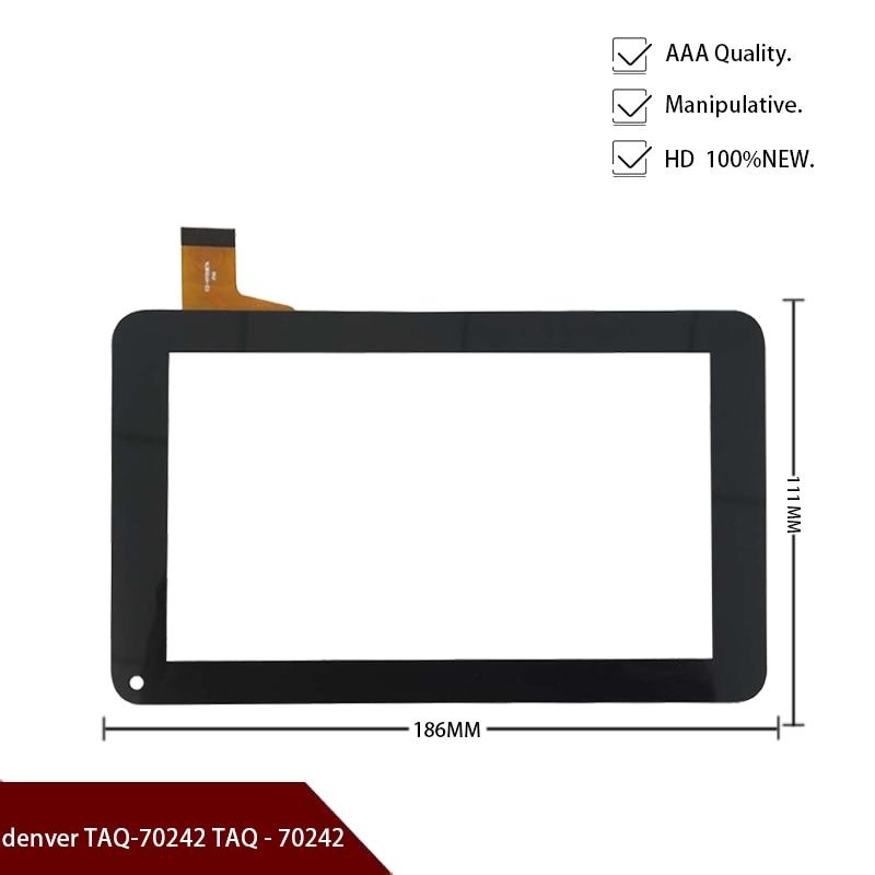 "Witazul nueva pantalla táctil para 7 ""denver TAQ-70242 TAQ-70242 Tablet panel táctil cristal digitalizador con sensor de repuesto envío gratis"