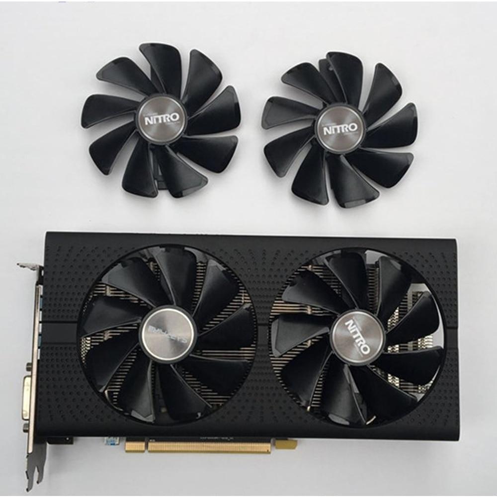 SAPPHIRE AMD Radeon NITRO+/PULSE RX580 Graphics Card Cooling Fan RX470 RX570 RX480 RX580 RX590 4G/8G