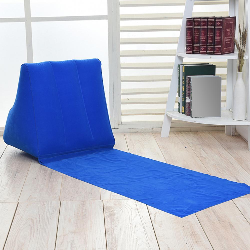 Gonflable tapis de plage Festival Camping loisirs chaise longue dos oreiller coussin dos soutien chaise pour camping pyjamas bain de soleil