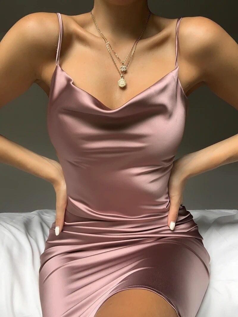 Vestido de verano sin mangas con cuello en V para mujer, traje...