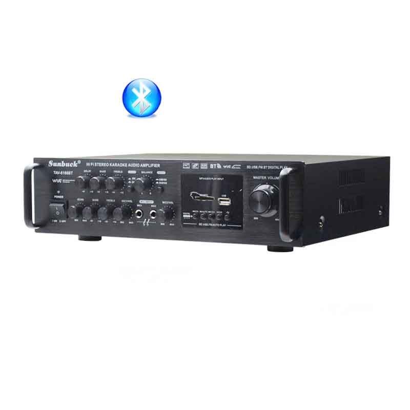 Card SD USB FM Home Audio Car Amplifier 20Hz-40KHz 200W*2 12v 220v luxury TAV-6188BT High Power Built-in Bluetooth Amplifier