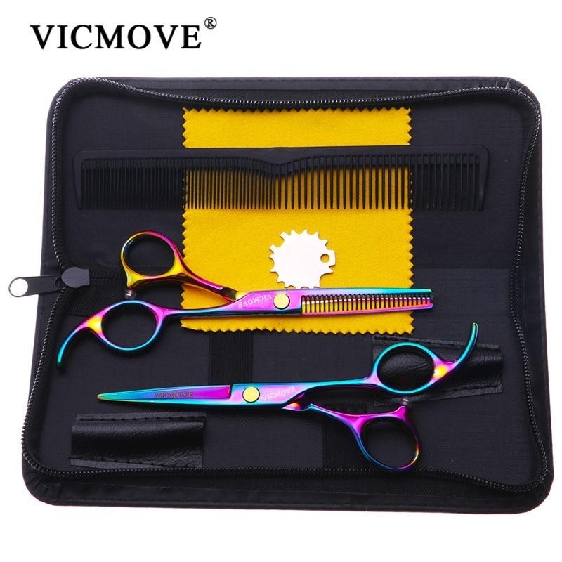 VICMOVE 5,5 дюймов инструмент для стрижки филировки стайлинга ножницы для волос Нержавеющая сталь парикмахерский салон ножницы плоские зубцы