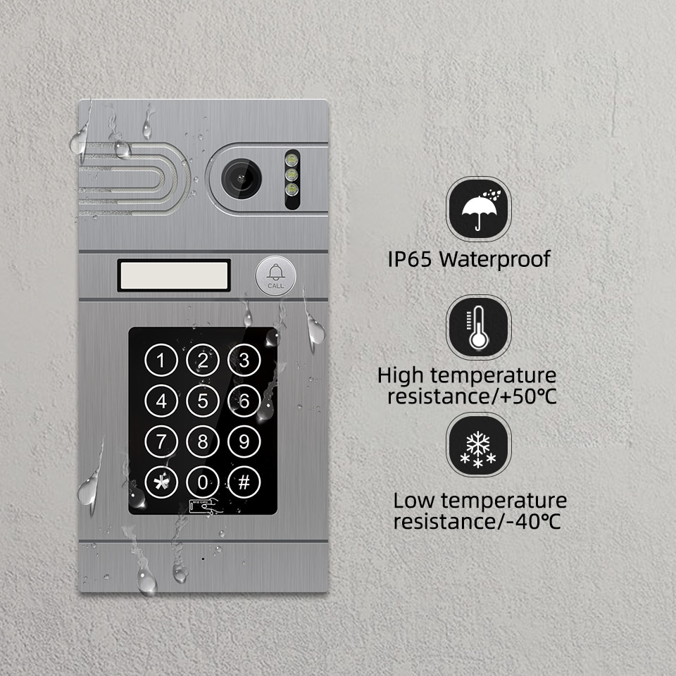 7 Inch Tuya Smart Wifi Wired 960P AHD Video Intercom System Support Password RFID card Unlock Electric Locks Remote Control enlarge