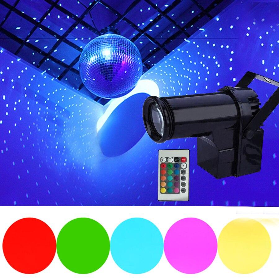 10W RGB Strahl LED Pinspot Licht Mit Fernbedienung Bühne Wirkung Scheinwerfer Disco DJ Bühne Party Zeigen Licht Weihnachten Pinspot bühne Lampen