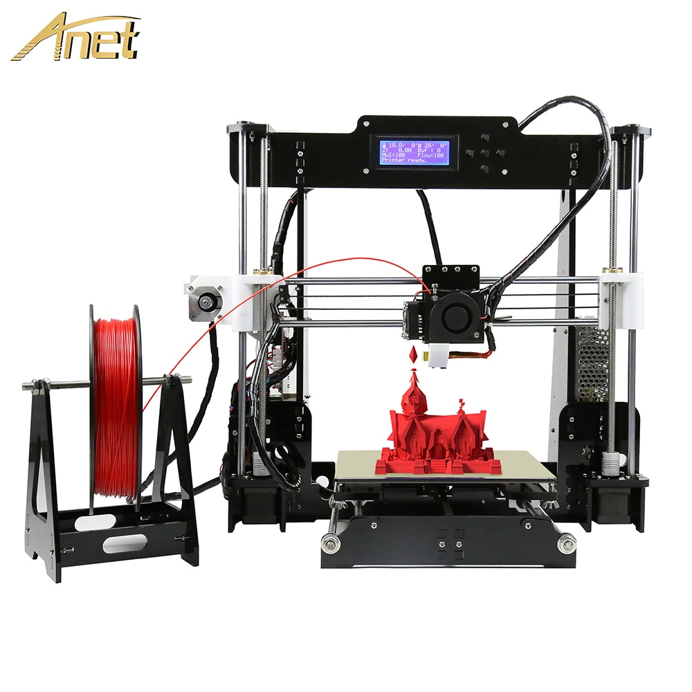 Hot Sale Cheap Anet 3d Printer A8 A6L High-Precision DIY FDM 3D Printer Reprap Prusa I3 Printer drukarka 3d with PLA Filament