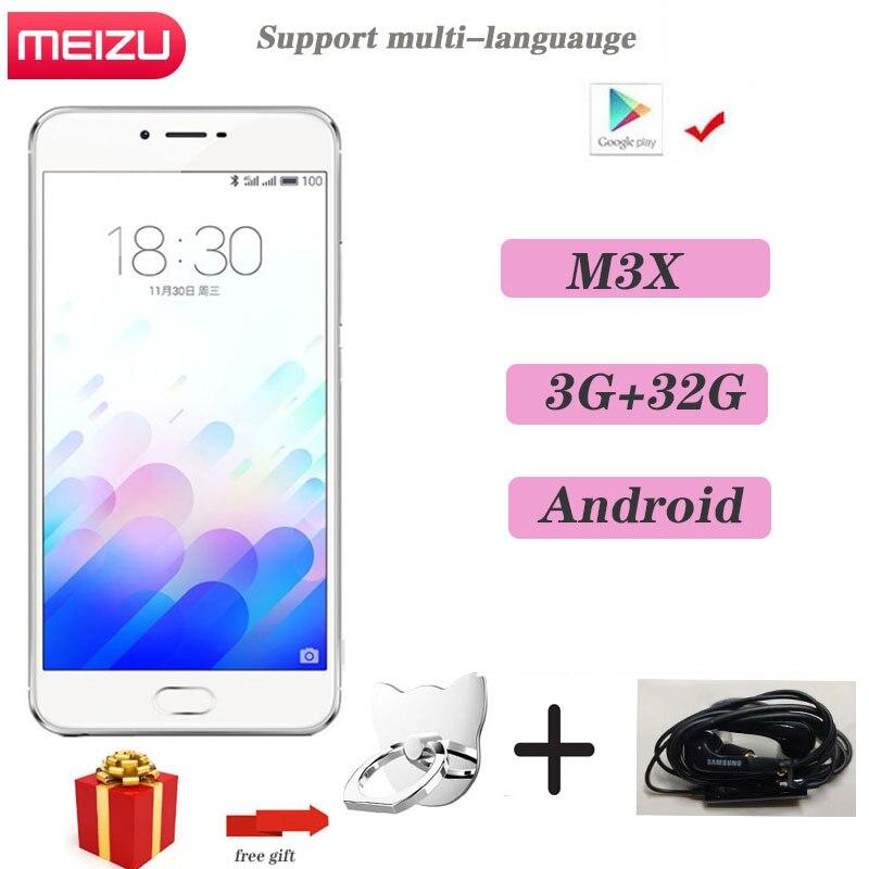 Meizu-teléfono inteligente M3X versión Global, móvil con 3GB y 32GB, cámara Dual,...