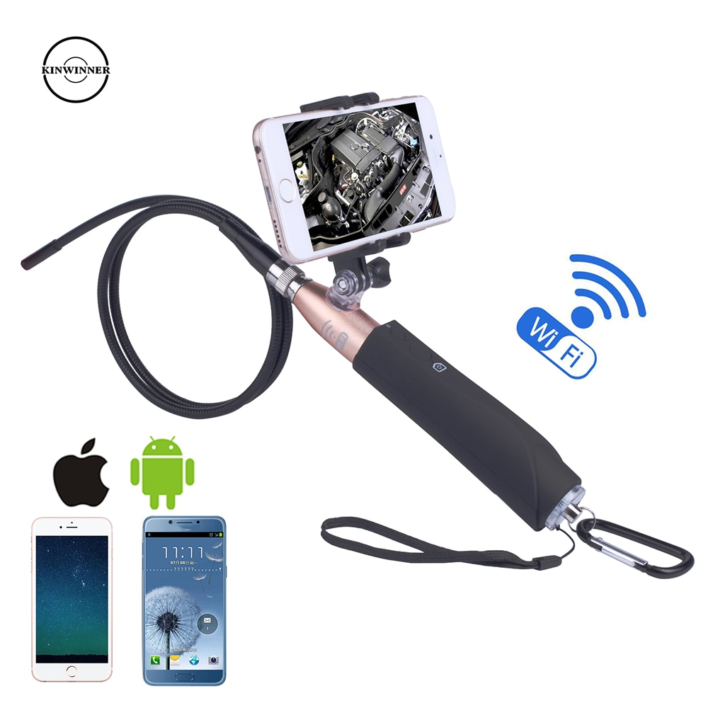 8mm Wifi Endoscope Camera Suitable For Android IOS Snake Tube Detection mini Endoscope Camera With Handle can be taken Iphone