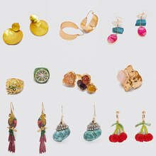 Bohemain Bird Tassel Long Drop Earrings 2020 New ZA Natural Stone Colorful Beads Dangle Earring for Women Wedding Jewelry