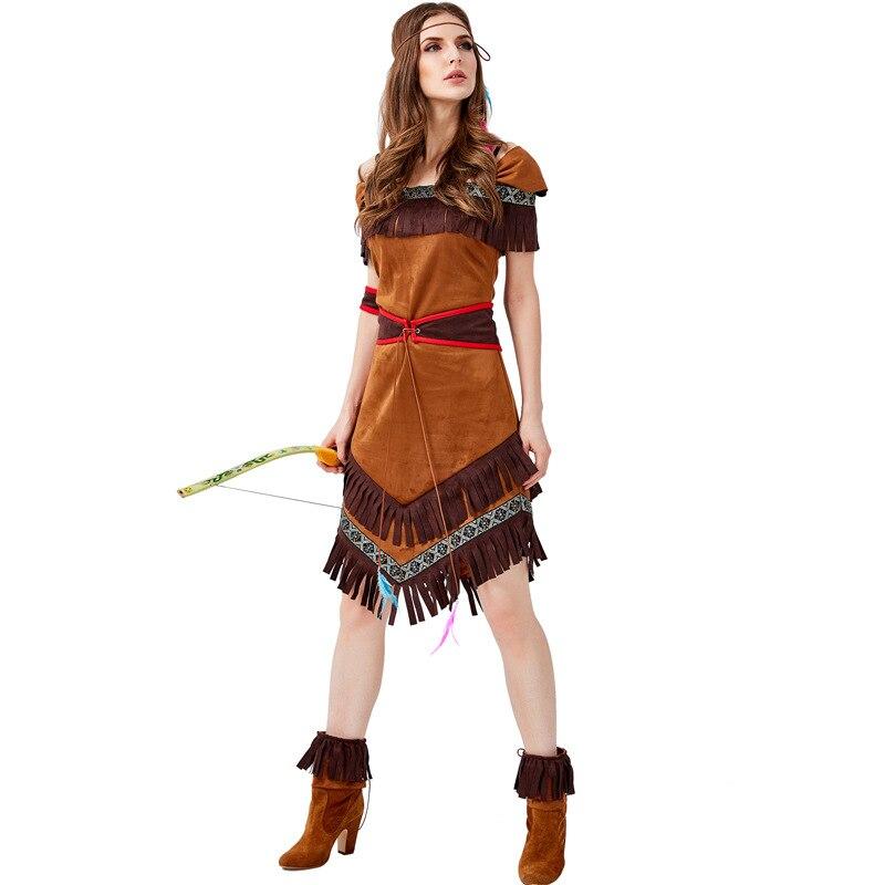 Los indios nativos de la diosa de la tribu papel jugando traje Cosplay de Halloween Navidad disfraces de fiesta Cosplay