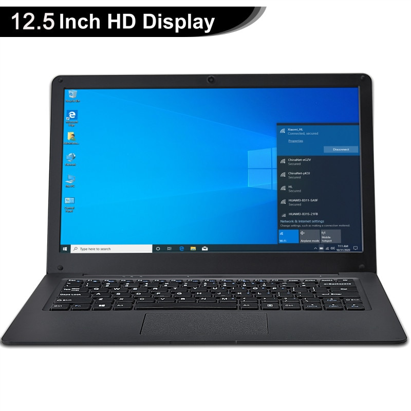 12.5 Inch Netbook Windows 10  Pro Lightweight Ultra-Thin 4GB+64GGB Small Laptop Intel N3350 64-Bit Netbook Ultrabook Office PC