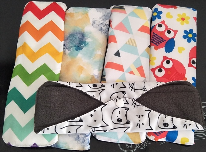 18*25cm 10Pcs Mixed Color Eco Life Panty Liner Cloth Menstrual Pad Mama Sanitary Reusable Soft Washable Charcoal Period Napkins