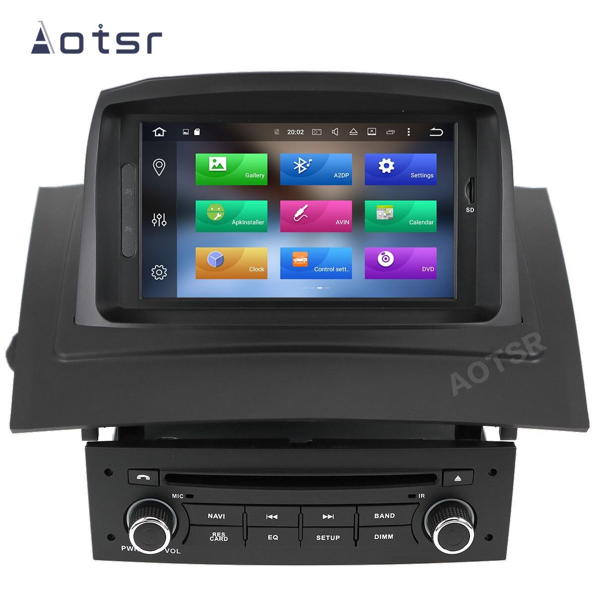 AOTSR 2 Din coche Radio Auto Android 10 para Renault Megane 2 Fluence 2002 - 2008 reproductor Multimedia navegación GPS DSP AutoRadio