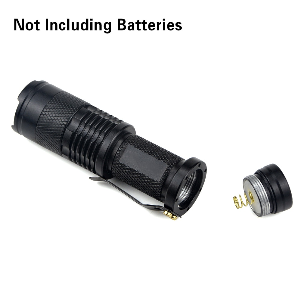 1Pcs Portable Aluminum Q5 LED Flashlight 3 Modes Zoomable Torch LED lights For Camping Bike Outdoor Lighting Safety Taschenlampe enlarge