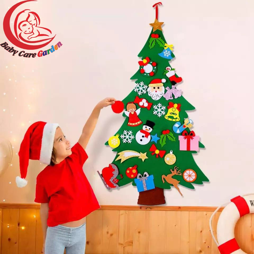 Kids DIY Felt Christmas Tree Christmas Decoration for Home  2021 New Year Gifts Christmas Ornaments Santa Claus Xmas Tree недорого