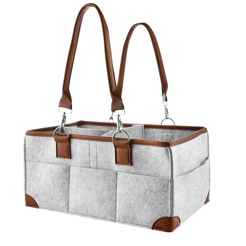 JEYL Baby Diaper Caddy Organizer cesta de almacenamiento portátil bolsa esencial para el cambiador del cuarto de niños y el coche bueno para el Dia de almacenamiento