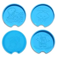 coaster epoxy resin mold tray plate cup mat pad silicone mould diy crafts decorations casting tool
