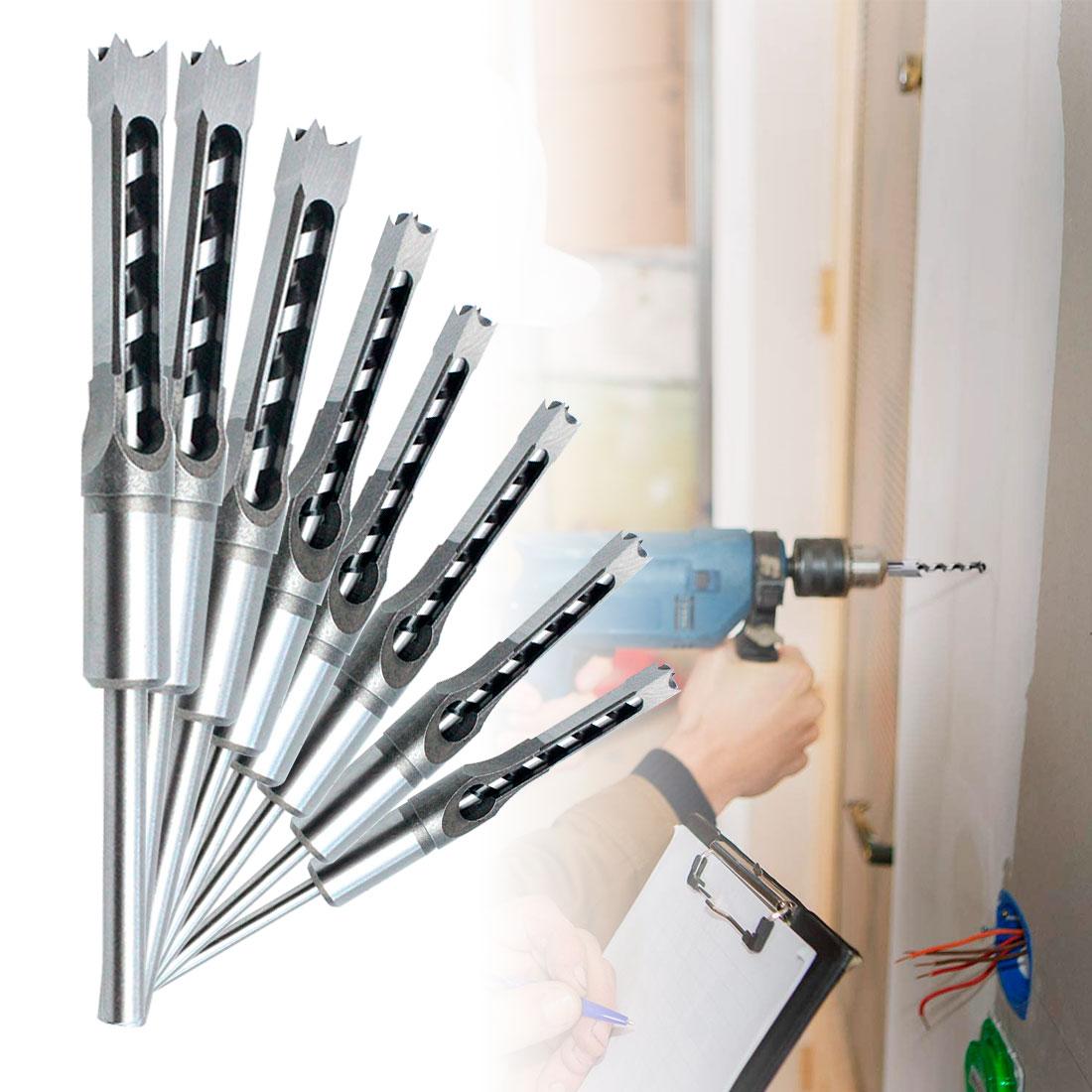 Набор спиральных Сверл из быстрорежущей стали, набор инструментов для деревообработки, набор резцов для резки с квадратным шнеком, набор уд...