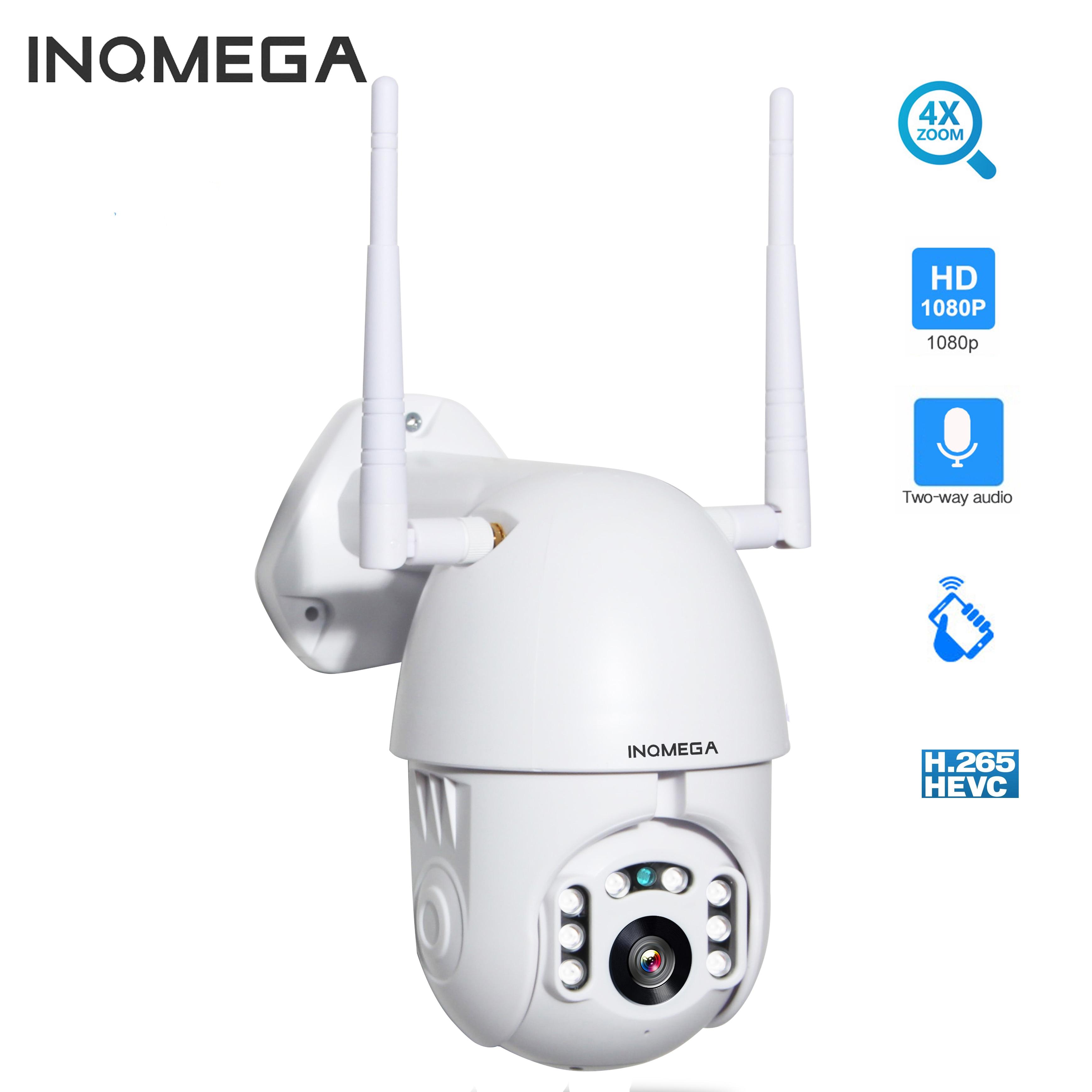 INQMEGA 1080p cámara IP PTZ velocidad al aire libre 4X Zoom Digital H.265X Domo CCTV cámaras de seguridad WIFI Exterior IR vigilancia del hogar