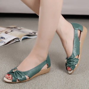 Women Shoes Summer Pure Color Flat Soft Open Toe Casual sandals Platform Wedge Slides Beach Shoes Dropshipping#g20