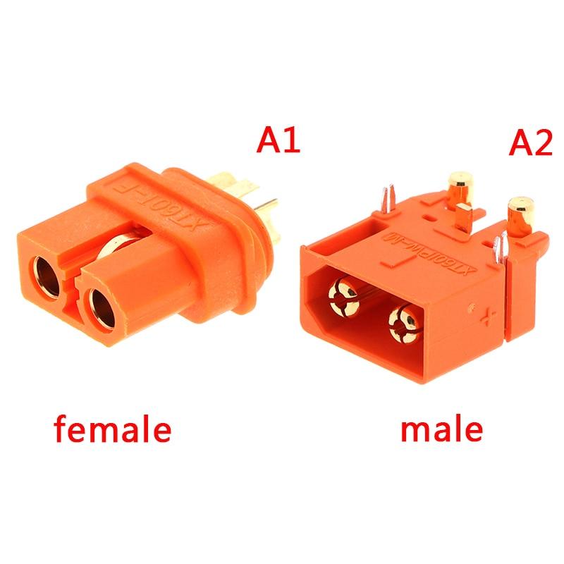 XT60 2 + 1 Conector con Pin de señal XT60IPW XT60I piezas de enchufe de placa Horizontal