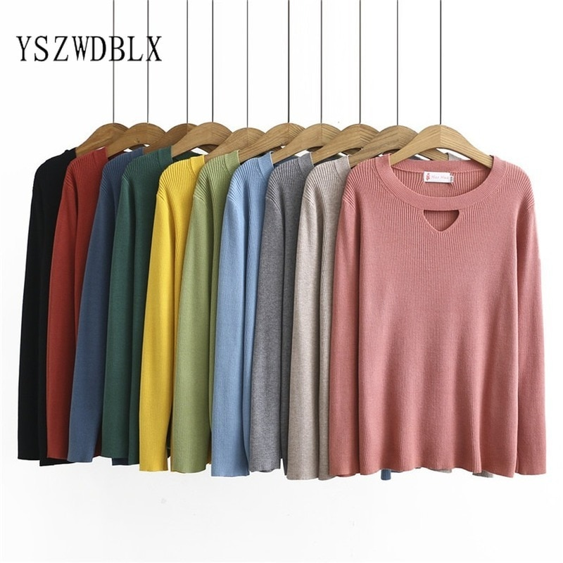 Loose Style Women Sweater 2021 Spring Autumn Basic Knitted Pullovers Plus Size Casual Female Jumpers Solid Woman Sweaters 4XL