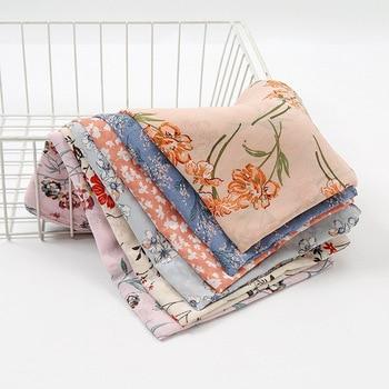 N26  50PCS High quality flower printed chiffon hijab scarf lady scarf/scarves long wrap headband maxi scarf 180*70cm
