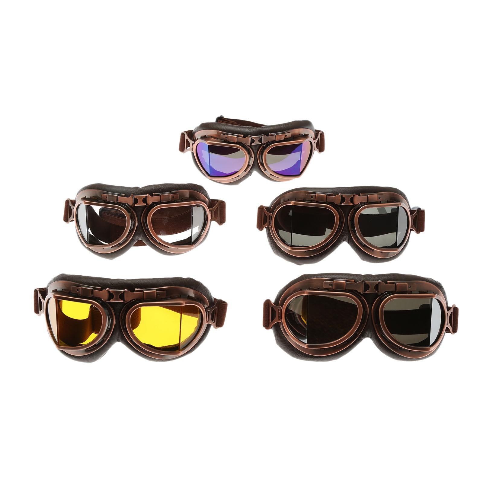 2019 nuevas gafas retro para motocicleta gafas Vintage Moto gafas clásicas para piloto Steampunk ATV bicicleta casco de cobre