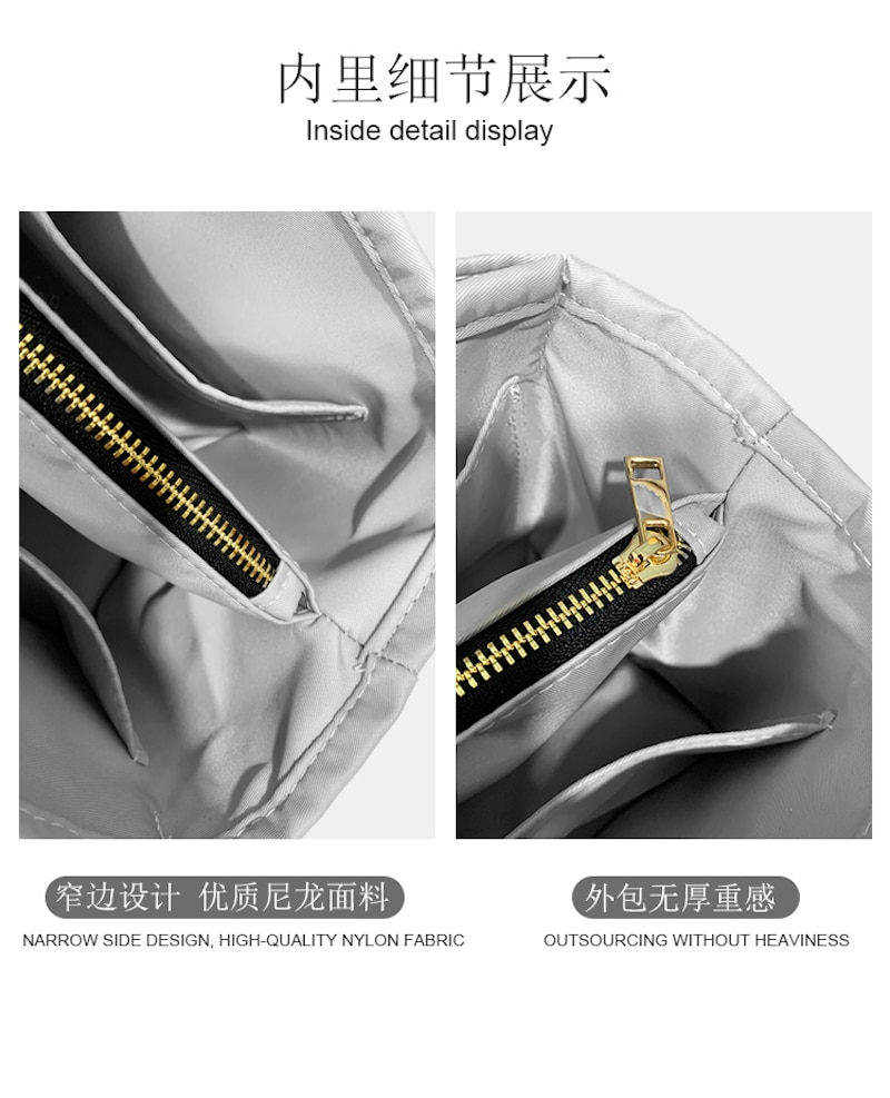 For lindy 26/30/34 Insert Bags Organizer Makeup Handbag Organize Inner Purse Portable base shaper Premium nylon (Handmade