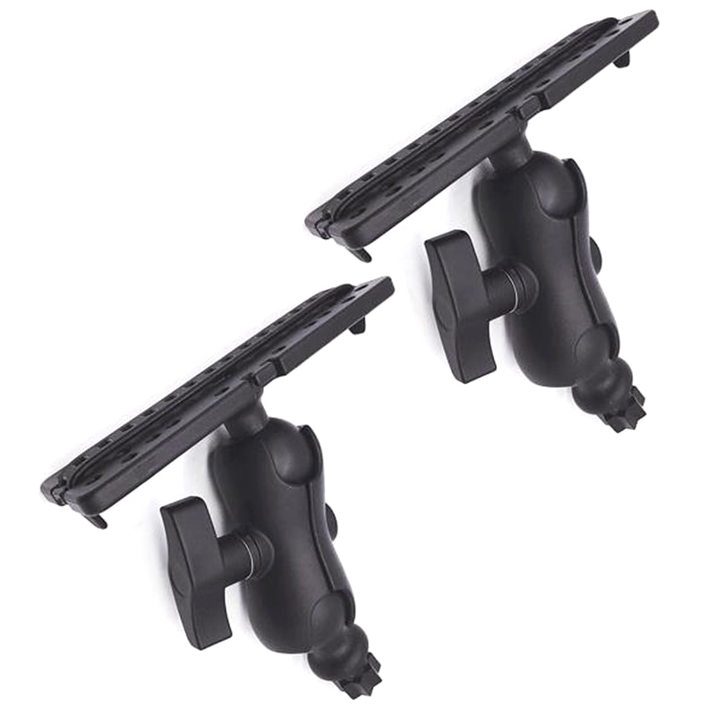2Pcs Ball Mount with Fish Finder and Universal Mounting Plate Kayak Accessories,Inner Hexagon Base for Most Bases