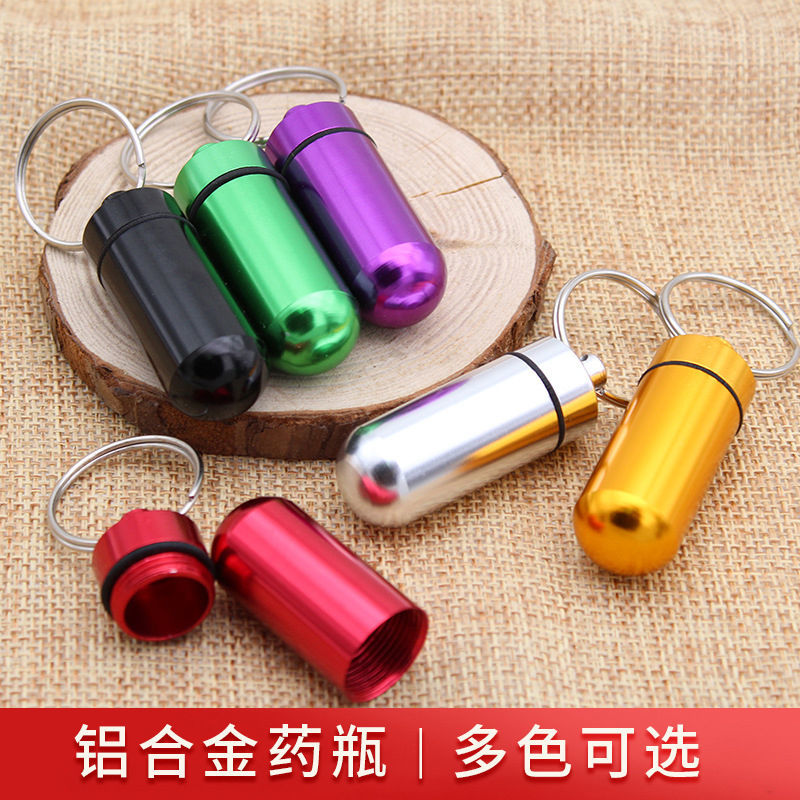 Outdoor Medicine Bottle Waterproof Small Medicine Canister Emergency Medicine Pill Bottle Aluminum Alloy Sealed Cylinder Can tintinalli s emergency medicine just the facts