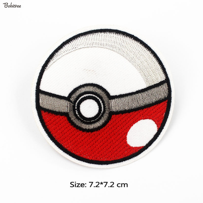 Anime Pokemon de hierro parches bordados pegatinas, insignias apliques de tela rayas tela chaquetas bolsas suministros de costura