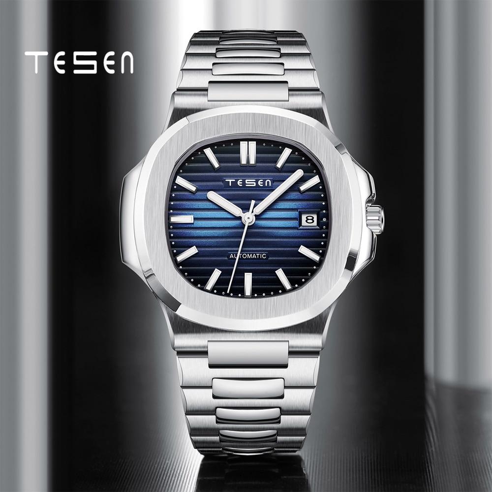 TESEN 2021 Men's Watch Patek Luxury Brand Steel Automatic Mechanical Watch Men's Business Chronograph Watch Sports 30M enlarge