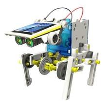 190 pièces Kit 12 en 1 éducatif solaire Robot solaire alimenté moteur motorisé et engrenages bricolage assemblé blocs jouet pour les enfants