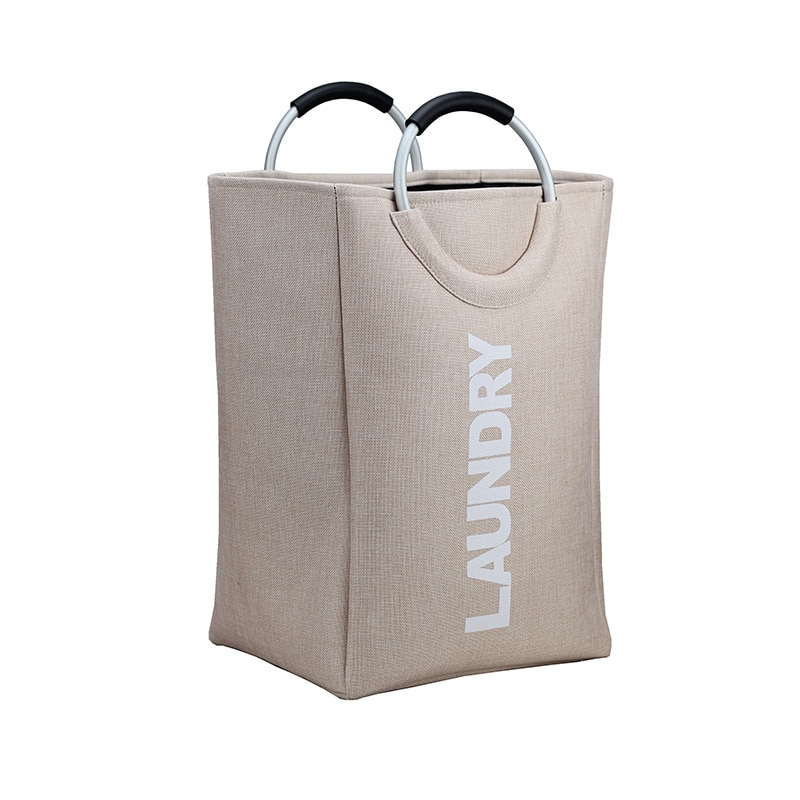 سلة غسيل سميكة قابلة للطي ، حقيبة تنظيم الملابس المتسخة بمقابض