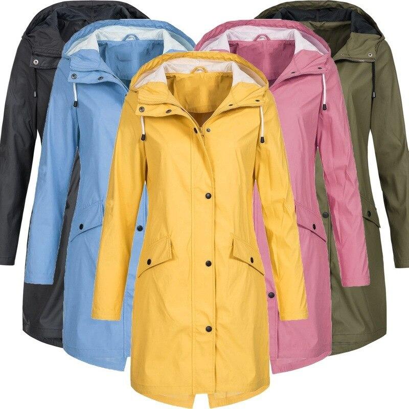 Winter Women Jacket Softshell Fleece Long Jackets Windbreaker Hiking  Windproof Outdoor Coat Hooded Raincoat Famale