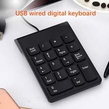 Small-Size 2.4GHz Wire Numeric Keypad Numpad 18 Keys Digital Keyboard For Accounting Teller Laptop N