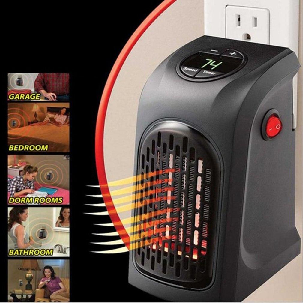 400W chauffage électrique Mini ventilateur chauffage bureau ménage mur pratique chauffage poêle radiateur plus chaud Machine pour hiver livraison directe