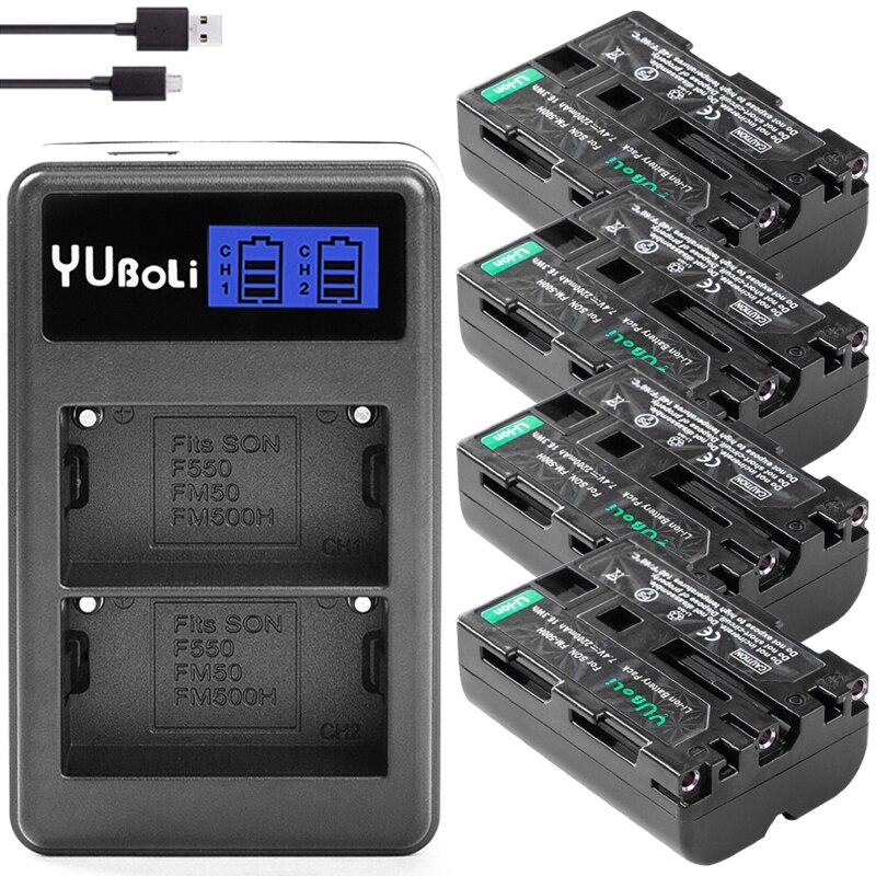 2200mAH NP-FM500H NP FM500H FM500H Li-Ion Cámara recargable de la batería para...