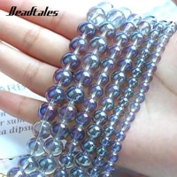 6810mm flash stone natural stone beads round glitter transparent bead for jewelry making diy bracelet accessories 15