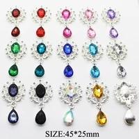 hot sale 10pcs crystal rhinestone buttons brooch accessories diy wedding invitation card wine glass gift box creative decoration