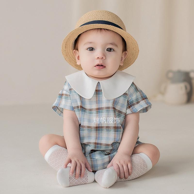 Одежда для маленьких мальчиков эксклюзивная одежда младенческой шотландка